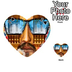 Graffiti Sunglass Art Playing Cards 54 (heart)