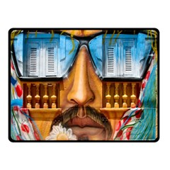 Graffiti Sunglass Art Double Sided Fleece Blanket (small)  by TheWowFactor