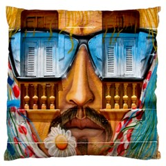 Graffiti Sunglass Art Large Flano Cushion Cases (One Side)