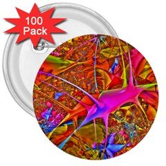 Biology 101 Abstract 3  Buttons (100 pack)  by TheWowFactor