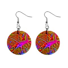 Biology 101 Abstract Mini Button Earrings