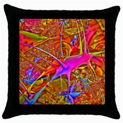 Biology 101 Abstract Throw Pillow Cases (black) by TheWowFactor