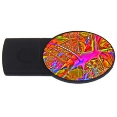 Biology 101 Abstract Usb Flash Drive Oval (2 Gb)  by TheWowFactor