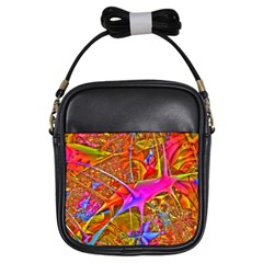 Biology 101 Abstract Girls Sling Bags by TheWowFactor