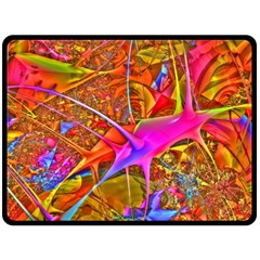 Biology 101 Abstract Fleece Blanket (large)  by TheWowFactor