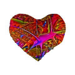 Biology 101 Abstract Standard 16  Premium Heart Shape Cushions by TheWowFactor