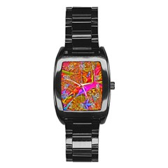 Biology 101 Abstract Stainless Steel Barrel Watch by TheWowFactor