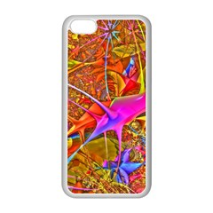 Biology 101 Abstract Apple Iphone 5c Seamless Case (white) by TheWowFactor