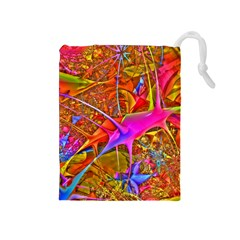Biology 101 Abstract Drawstring Pouches (medium)  by TheWowFactor