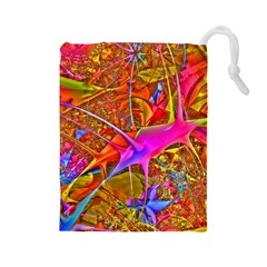 Biology 101 Abstract Drawstring Pouches (large)  by TheWowFactor