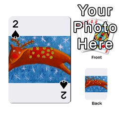 Rudolph The Reindeer Playing Cards 54 Designs  by julienicholls