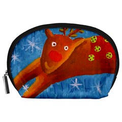 Rudolph The Reindeer Accessory Pouches (large)  by julienicholls