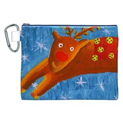 Rudolph The Reindeer Canvas Cosmetic Bag (XXL)  by julienicholls