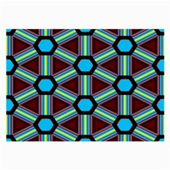 Stripes And Hexagon Pattern Large Glasses Cloth (2 Sides) by LalyLauraFLM