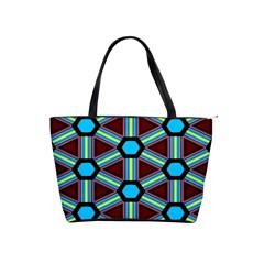 Stripes And Hexagon Pattern Classic Shoulder Handbag by LalyLauraFLM