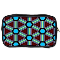 Stripes And Hexagon Pattern Toiletries Bag (one Side) by LalyLauraFLM