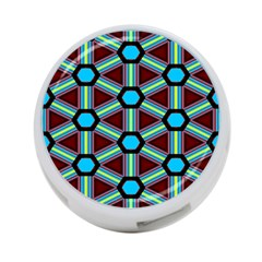 Stripes And Hexagon Pattern 4 Port Usb Hub (two Sides) by LalyLauraFLM