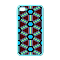Stripes And Hexagon Pattern Apple Iphone 4 Case (color) by LalyLauraFLM