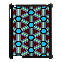 Stripes And Hexagon Pattern Apple Ipad 3/4 Case (black) by LalyLauraFLM