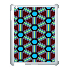 Stripes And Hexagon Pattern Apple Ipad 3/4 Case (white) by LalyLauraFLM