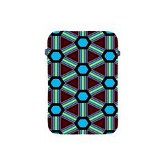 Stripes And Hexagon Pattern Apple Ipad Mini Protective Soft Case by LalyLauraFLM