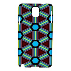 Stripes And Hexagon Pattern Samsung Galaxy Note 3 N9005 Hardshell Case by LalyLauraFLM
