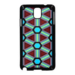 Stripes And Hexagon Pattern Samsung Galaxy Note 3 Neo Hardshell Case by LalyLauraFLM
