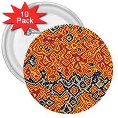 Red Blue Yellow Chaos 3  Button (10 Pack) by LalyLauraFLM