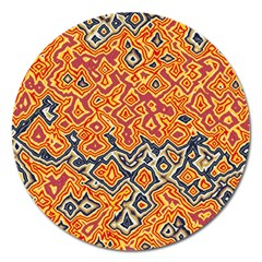 Red Blue Yellow Chaos Magnet 5  (round) by LalyLauraFLM