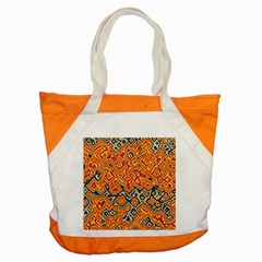 Red Blue Yellow Chaos Accent Tote Bag by LalyLauraFLM