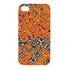 Red Blue Yellow Chaos Apple Iphone 4/4s Hardshell Case by LalyLauraFLM