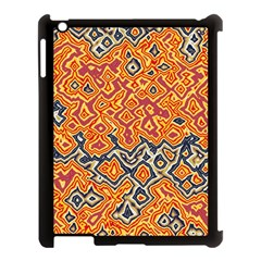 Red Blue Yellow Chaos Apple Ipad 3/4 Case (black) by LalyLauraFLM