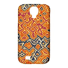 Red Blue Yellow Chaos Samsung Galaxy S4 Classic Hardshell Case (pc+silicone) by LalyLauraFLM