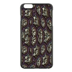3d Plastic Shapes Apple Iphone 6 Plus Black Enamel Case by LalyLauraFLM