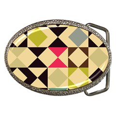 Rhombus and triangles pattern Belt Buckle by LalyLauraFLM