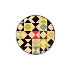 Rhombus And Triangles Pattern Hat Clip Ball Marker (4 Pack) by LalyLauraFLM