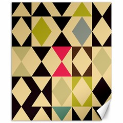 Rhombus And Triangles Pattern Canvas 8  X 10  by LalyLauraFLM