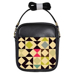 Rhombus And Triangles Pattern Girls Sling Bag by LalyLauraFLM