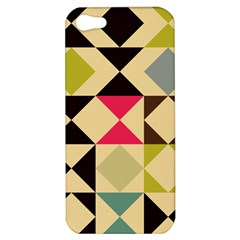Rhombus And Triangles Pattern Apple Iphone 5 Hardshell Case by LalyLauraFLM