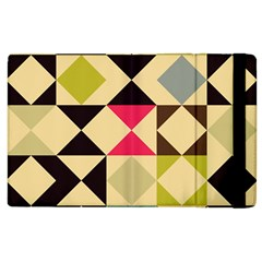 Rhombus And Triangles Pattern Apple Ipad 2 Flip Case by LalyLauraFLM