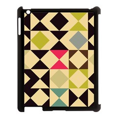 Rhombus And Triangles Pattern Apple Ipad 3/4 Case (black) by LalyLauraFLM