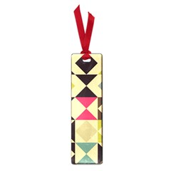 Rhombus And Triangles Pattern Small Book Mark by LalyLauraFLM