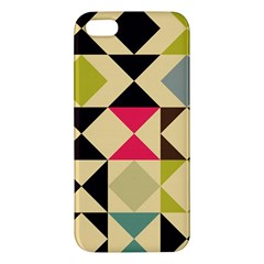 Rhombus And Triangles Pattern Apple Iphone 5 Premium Hardshell Case by LalyLauraFLM