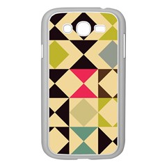 Rhombus And Triangles Pattern Samsung Galaxy Grand Duos I9082 Case (white) by LalyLauraFLM