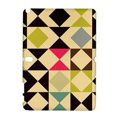 Rhombus And Triangles Pattern Samsung Galaxy Note 10 1 (p600) Hardshell Case by LalyLauraFLM