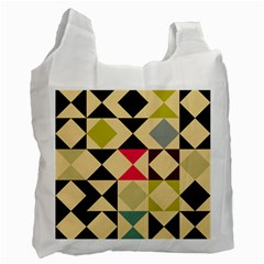 Rhombus And Triangles Pattern Recycle Bag by LalyLauraFLM