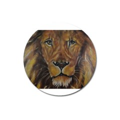 Cecil The African Lion Magnet 3  (round) by timelessartoncanvas
