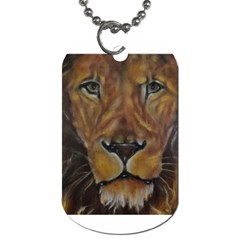 Cecil The African Lion Dog Tag (two Sides) by timelessartoncanvas