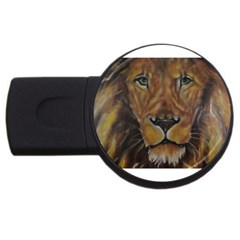 Cecil The African Lion USB Flash Drive Round (1 GB)  by timelessartoncanvas