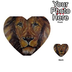 Cecil The African Lion Multi Purpose Cards (heart)